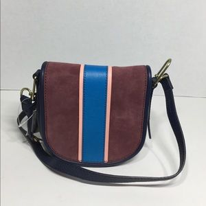 Multi Color Fossil Rumi Cabernet Crossbody bag.